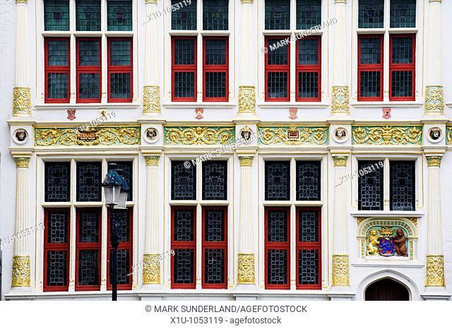 Old Civil Registry or Old Recorders House in Burg Square Bruges Belgium