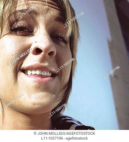 Blonde woman in close-up