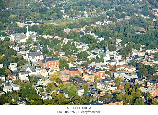 Main Street in the town of Saco, Maine