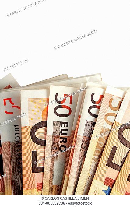 Several euro bills