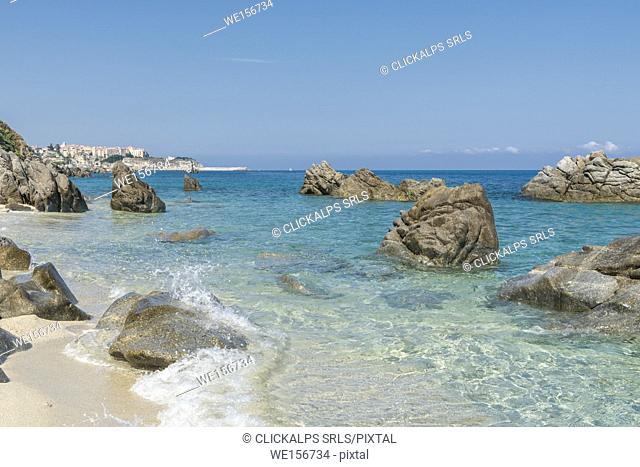 "Parghelia, province of Vibo Valentia, Calabria, Italy, Europe. The """"Michelino's Beach"""""