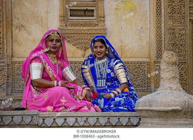 Rajput women in a palace, Jaisalmer, Thar Desert, Rajasthan, India, South Asia
