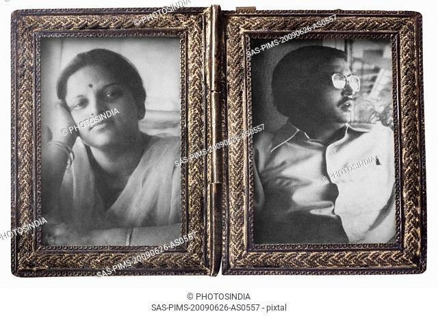 Couple in picture frames