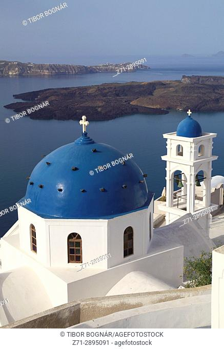 Greece, Cyclades, Santorini, Imerovigli, Anastasi Church,