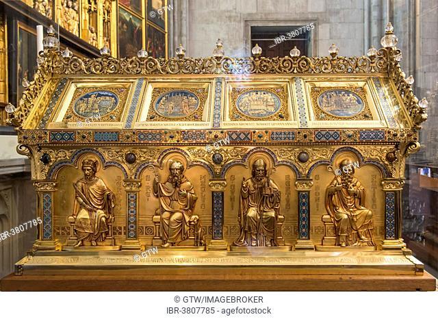Shrine, Cologne Cathedral, UNESCO World Heritage Site, North Rhine-Westphalia, Germany