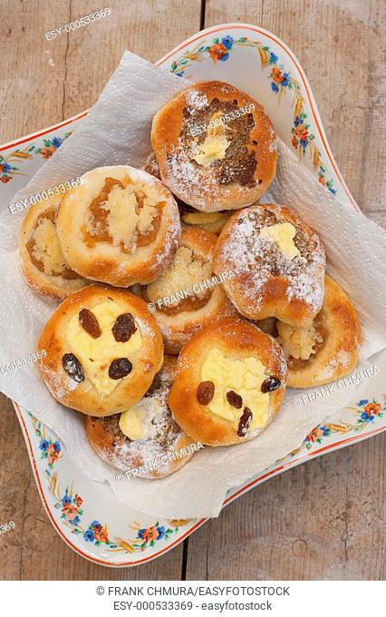 kolace - typical traditional sweet pastry from bohemia, czech republic