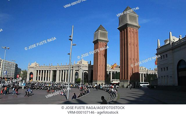 Spain, Barcelona City, España Square, Arenas Shopping Mall, Venetian Towers