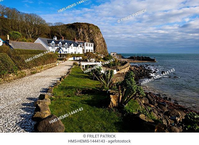 United Kingdom, Northern Ireland, County Antrim, Portbradden harbour