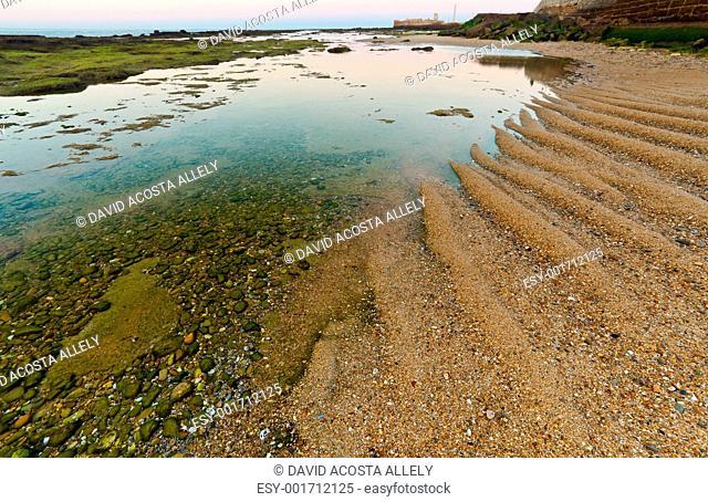 Beach of La Caleta of Cadiz