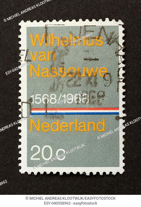 HOLLAND - CIRCA 1960: Stamp printed in the Netherlands shows Wilhelmus van Nassouwe, circa 1960