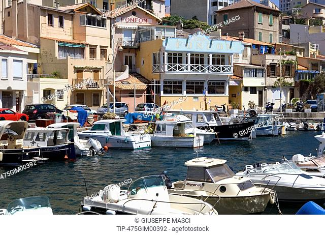 France, Provence, Marseille, Vallon des Auffes harbour