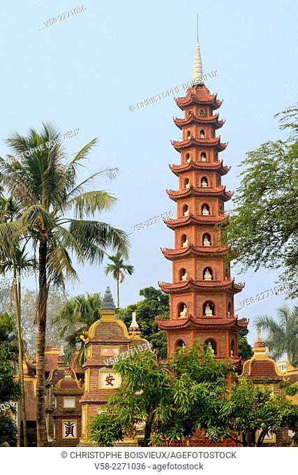Vietnam, Hanoi, West lake, Tran Quoc pagoda