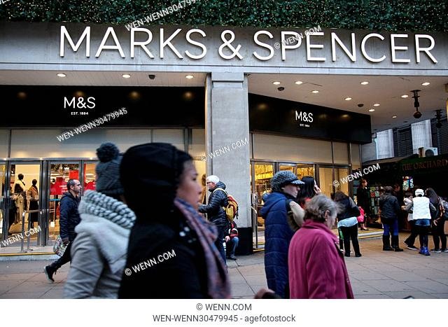 OXFORD STREET STORES MARKS AND SPENCER AND SELFRIDGES