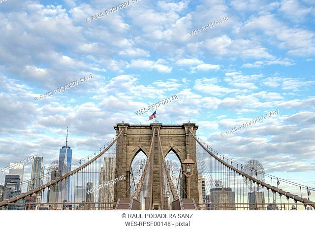 USA, New York City, Brooklyn Bridge