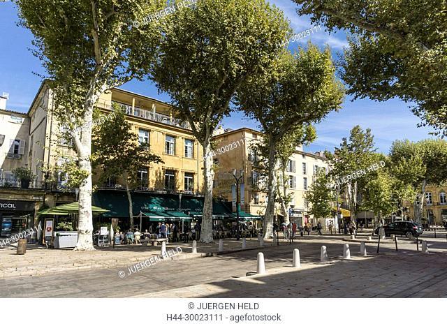 France, Provence-Alpes-Côte d'Azur, Aix-en-Provence, Les Deux Garcons, Street Cafe, Cours Mirabeau, 1792