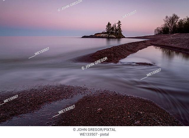 Sunset At Tombola, Hovland, Minnesota, Lake Superior