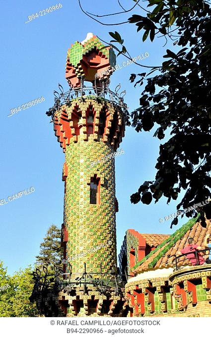Capricho de Gaudí 1883 - 1885. A colorful palace of the nineteenth century regarded as one of the first important works of Antoni Gaudí 1852 - 1926 and one of...