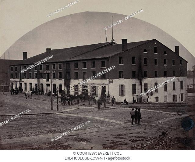The Civil War, north side of Libby Prison, a Confederate military prison taken over by Union troops, Richmond, Virginia, photograph by Andrew J