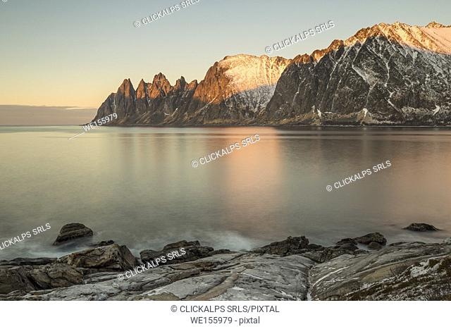Sunset at Tungeneset,Berg,Senja,Norway,Europe
