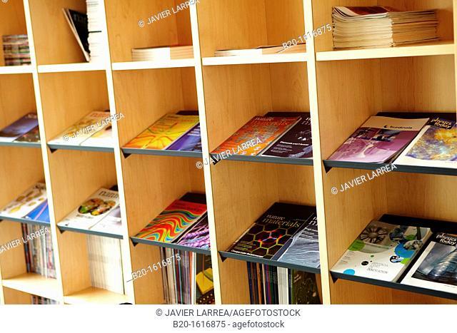 Science Journals, Rest area, CIC nanoGUNE, Nanoscience Cooperative Research Center, San Sebastian, Donostia, Gipuzkoa, Basque Country, Spain