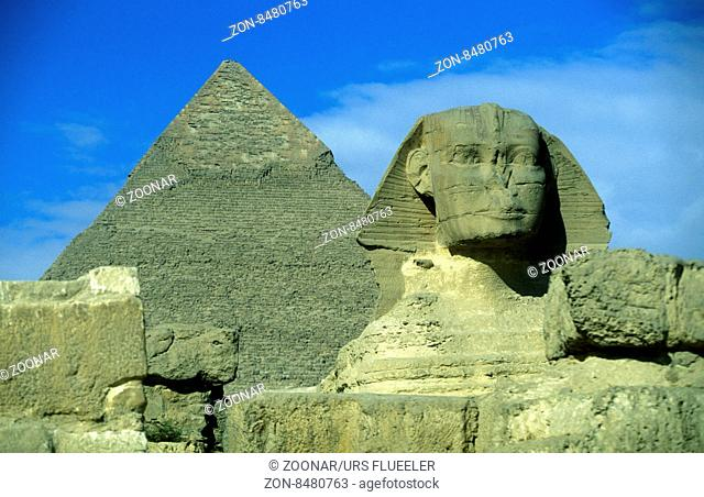 the pyramids pf giza near the city of Cairo the capital of Egypt in north africa