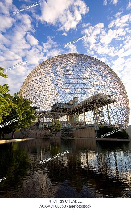 Montreal Biosphere a geodesic dome originally built as US pavillion at Expo 67, Montreal, Quebec, Canada