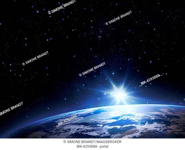 Planet Earth, sunrise