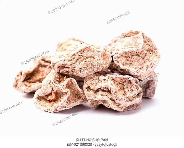 Dried chinese plum isolated