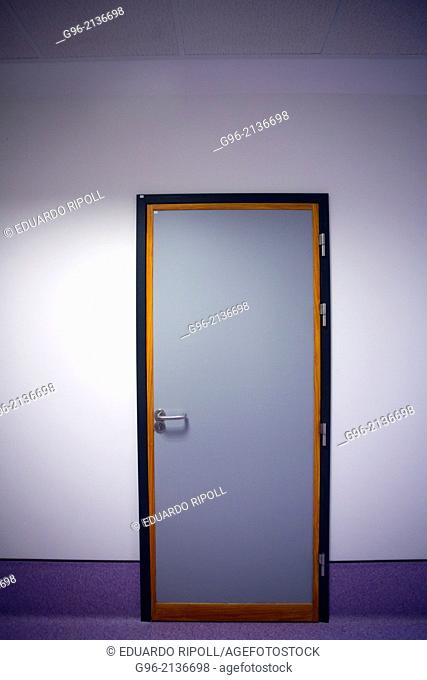 Door and white wall