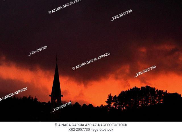 Sunset in Azpeitia, Basque Country