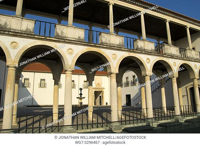 COIMBRA, PORTUGAL - August 13, 2016: The Machado da Castro National Museum in the ancient university city of Coimbra, Portugal