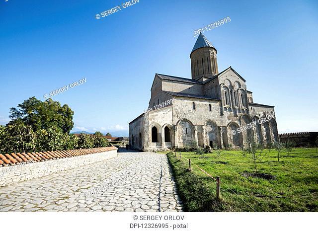 The 11th century cathedral at the Alaverdi Monastery, Georgian Orthodox monastery in the Kakheti region of Eastern Georgia; Kakheti, Georgia