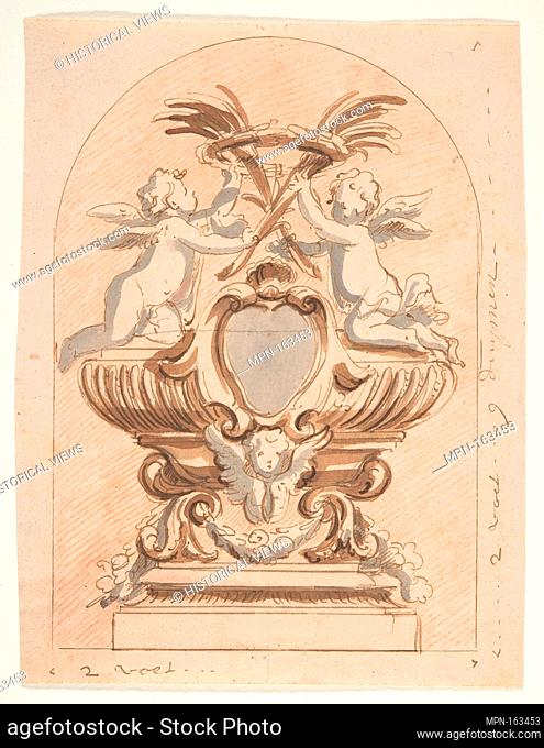 Design for a reliquary. Artist: Attributed to Pieter Verbruggen the Younger (Flemish, Antwerp 1648-1691 Antwerp); Former Attribution: Formerly attributed to...
