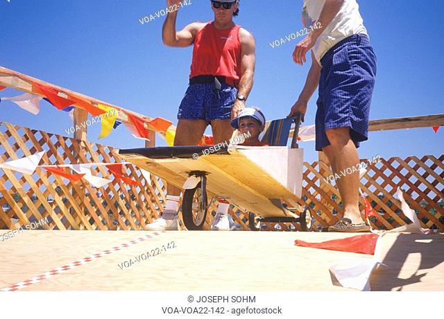 Soap Box Derby Participants in Venice, California