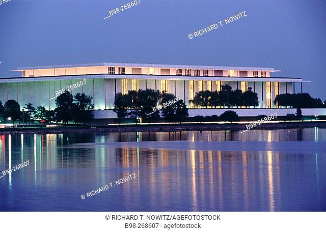 Kennedy Center and Potomac river. Washington D.C. Washington. USA