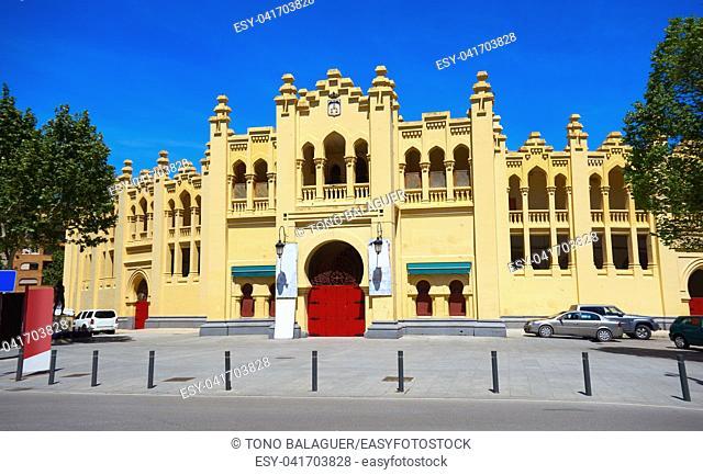 Albacete bullring in Castile La Mancha of Spain by Sait James Way of Levante