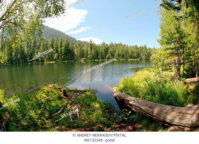 Lake Skazka (eng. Lake Tale) Siberia, Russian Federation