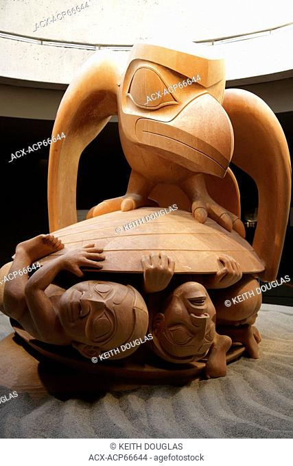 Haida artist Bill Reid's 'The Raven and the First Men' carving, Museum of Anthropology, University of British Columbia, Vancouver, BC