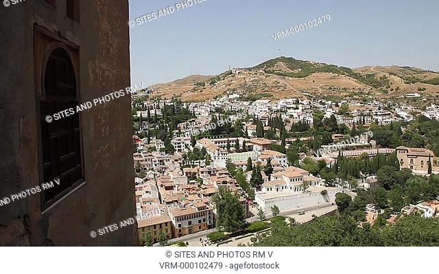 PAN, view of the Albaicin from the Mexuar Oratory. Alhambra was declared World Heritage Site by UNESCO in 1984