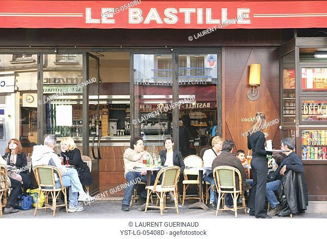 Snack bar, Place de la Bastille, 12ème arrondissement, 75012, Paris, France