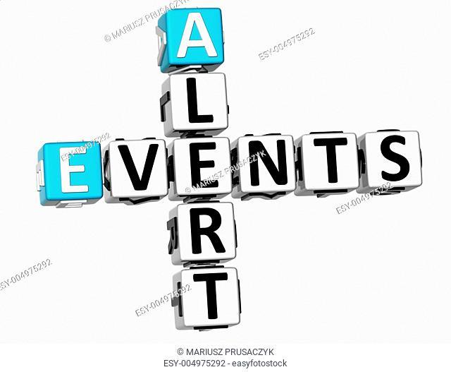 3D Events Alert Crossword