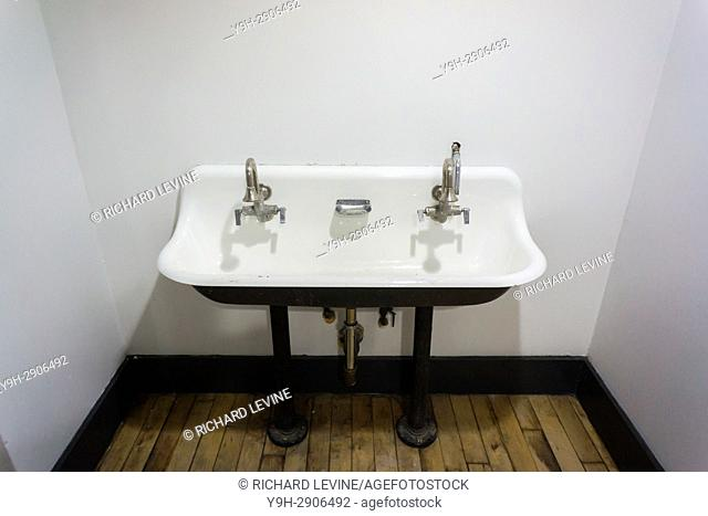 A sink in an art studio in New York