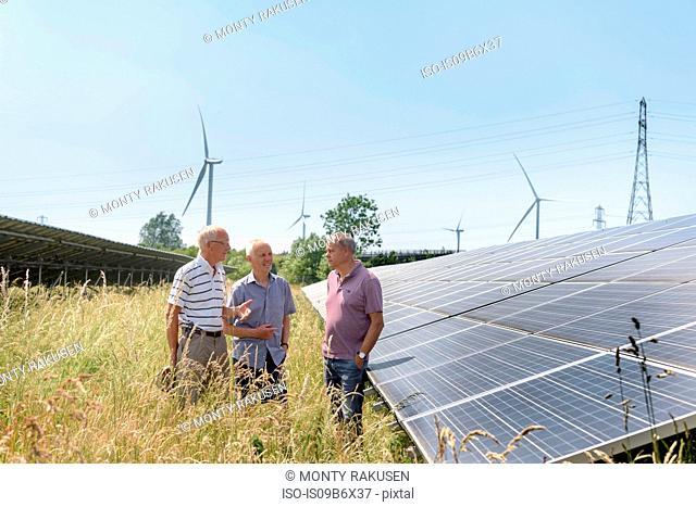 Local community members discussing their solar farm