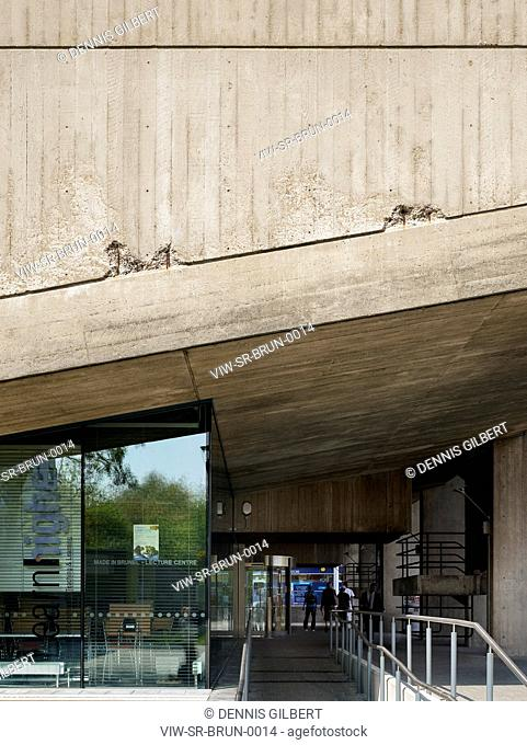 BRUNEL UNIVERSITY STUDENT RESIDENCE SHEPPARD ROBSON UXBRIDGE 2009 DETAIL OF CANOPIED GATEWAY TO LECTURE HALL, UXBRIDGE, STUDENT HOUSING, Architect2009