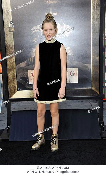 Los Angeles premiere of 'Annabelle: Creation' held at the TCL Chinese Theatre - Arrivals Featuring: Lulu Wilson Where: Los Angeles, California