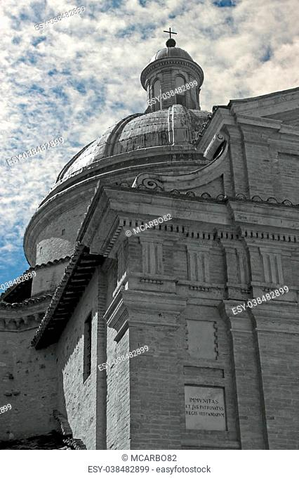 Frontal view of the church of Assisi, Umbria - Italy
