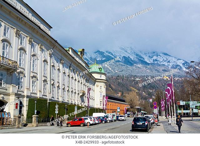 Rennweg, outside Hofburg, Innsbruck, Inn Valley, Tyrol, Austria