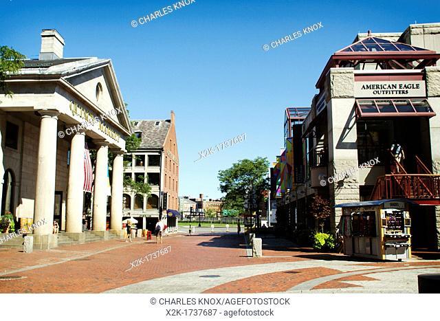 Quincy Market Downtown, Boston, Massachusetts, USA