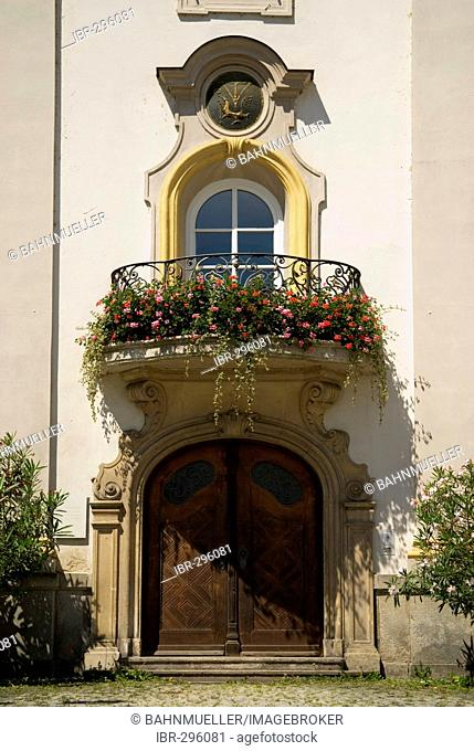 Passau Lower Bavaria Germany former house of the lord stewart front from 1903 to 1906 entrance