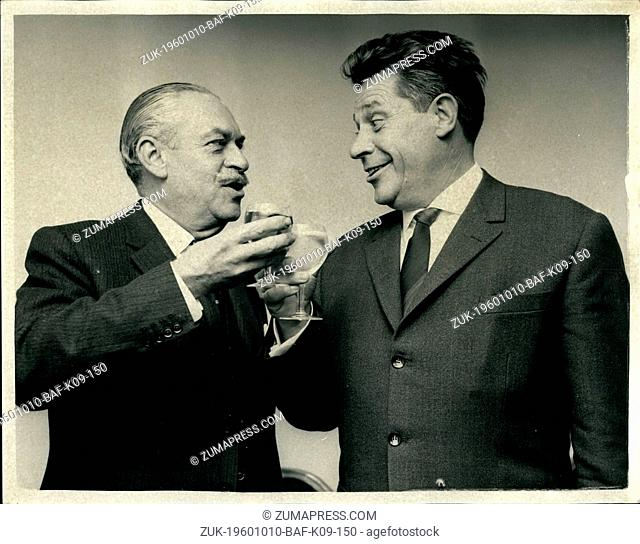 Oct. 10, 1960 - Spy and Captor meet again after Eighteen Years: A top German spy and the British intelligence man who caught him met again today for the first...